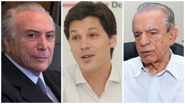 Michel Temer, Daniel Vilela e Iris Rezende: o vice-presidente quer uma convivência harmoniosa entre o novo e o histórico, mas sua opção é por quem tem voto, como o deputado