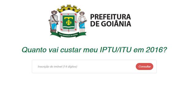 Prefeitura de Goiânia lança simulador do IPTU 2016
