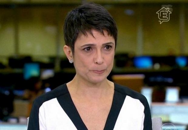 A jornalista engasgou e precisou conter as lágrimas | Foto: divulgação/ Rede Globo