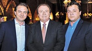 Júnior Friboi e os irmãos Joesley e Wesley Batista