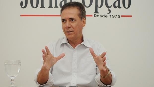 Deputado Pedro Chaves durante entrevista ao Jornal Opção, em 2014 | Foto: Renan Accioly