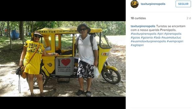 Táxi com tuc-tuc é novidade no transporte de turistas em Pirenópolis