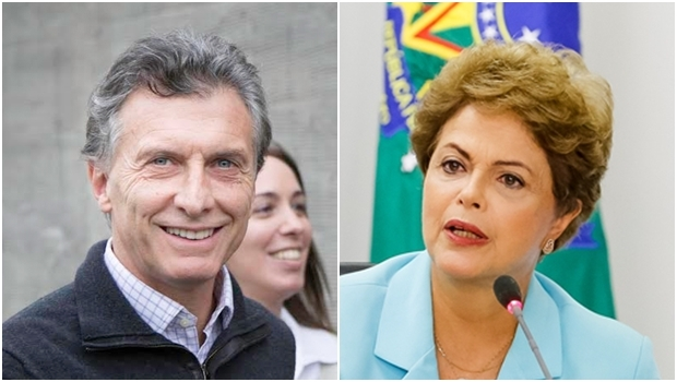 Maurício Macri e Dilma | Fotos: reprodução / Facebook