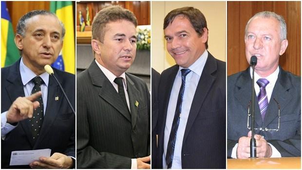 Vereadores Anselmo Pereira, Richard Nixon, Eudes Vigor e Milton Mercêz | Fotos: Câmara Municipal de Goiânia