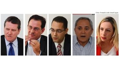 Giuseppe Vecci, Vanderlan Cardoso, Virmondes Cruvinel, Luiz Bittencourt e Adriana Accorsi