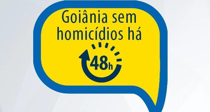 Governo de Goiás comemora 48 horas sem homicídios na capital