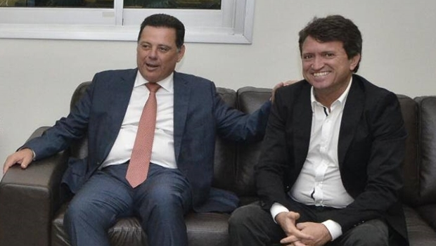 Prefeito de Caldas Novas, Evandro Magal (PP), esteve presente na solenidade de assinatura da ordem de serviço | Foto: Divulgação/prefeitura