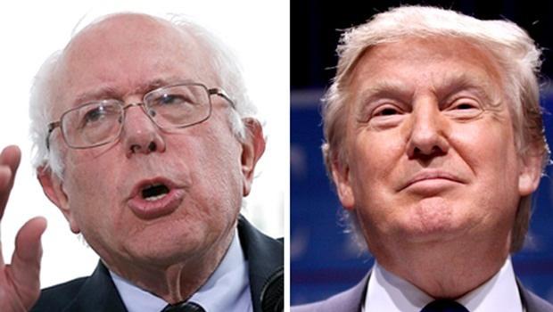 """Bernie Sanders e Donald Trump: no poder, o primeiro deixaria de ser socialista, para gerir o império capitalista,  e o segundo seria moderado pela sociedade americana. Os impérios são moderadores """"naturais"""" dos radicais"""