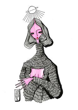 """Do artista e designer Lucas Ruiz, """"Irina""""; ilustração criada especialmente para o projeto """"100 poemas de até 100 caracteres"""", publicado recentemente no Opção Cutural, que reúne autores de todo Brasil e de outras partes do mundo"""