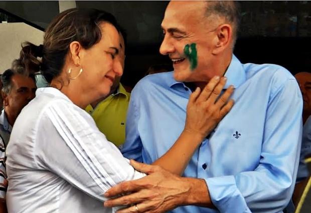 Jardel Sebba com sua mulher294e47ea-e677-4ee6-bd93-585551aadcbb