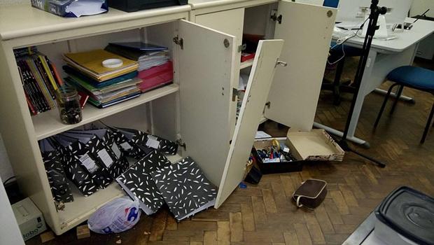 Lyceu tem portas arrombadas e equipamentos roubados
