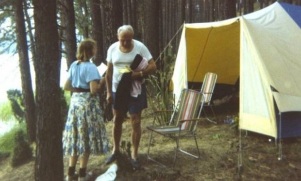 Papa João Paulo Segundo e Anna Teresa Tymieniecka num acampamentopapaanna