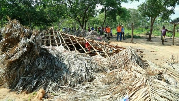 Casa destruída pela enchente na comunidade Kalunga | Foto: Wildes Barbosa