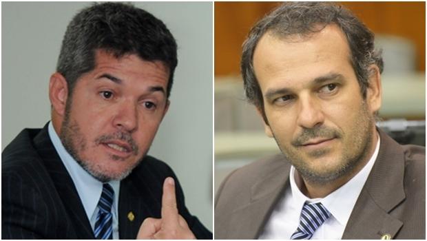 Deputado federal Delegado Waldir e Renato de Castro: devem trocar de partido   Foto: Renan Accioly e Marcos Kennedy