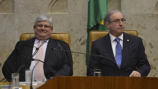 Janot ignora Cunha em discurso de abertura do ano judiciário no STF