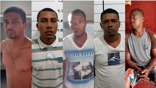 Cinco dos sete presos   Foto: divulgação