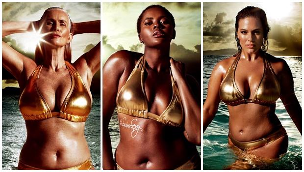 Revista americana publica anúncios com modelos plus size e de 59 anos