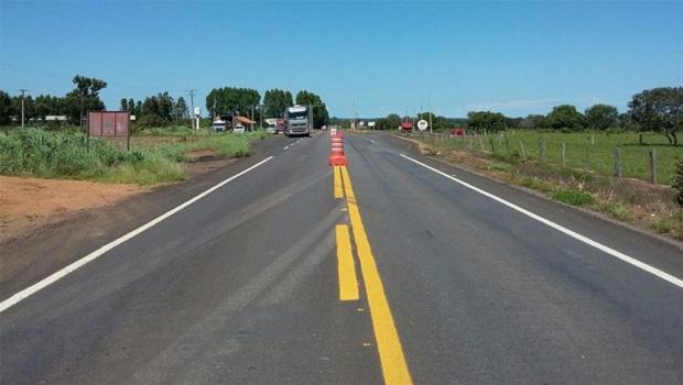 Obra na rodovia TO-342 custou R$ 3,5 milhões: importante via no escoamento da produção e na interligação com a BR-153   Foto: Divulgação