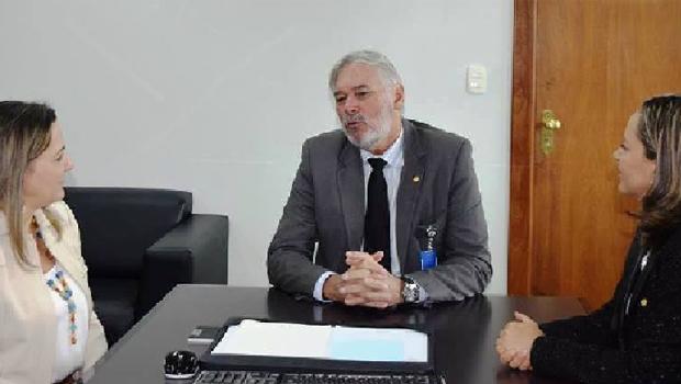 Deputadas tocantinenses e presidente do Serpro: parceria