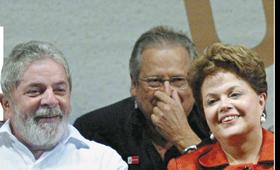 José Dirceu e Lula brasil