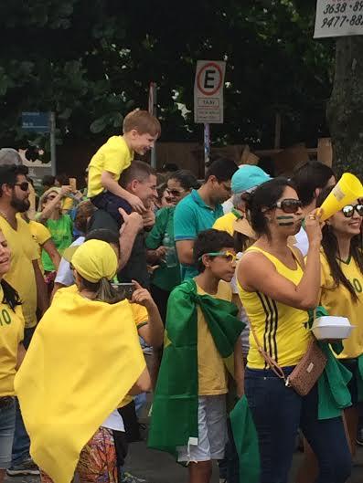 Protesto em Goiânia em 13 de março de 2016