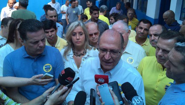 Marconi Perillo e Geraldo Alckmin participaram em São Paulo das prévias municipais do PSDB paulistano | Foto: Gabinete de Imprensa