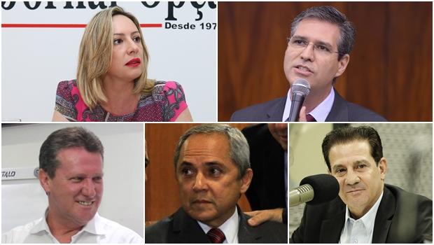 Adriana Accorsi, Francisco Júnior, Giuseppe Vecci, Luiz Bittencourt e Vanderlan Cardoso: políticos que também são gestores qualificados.