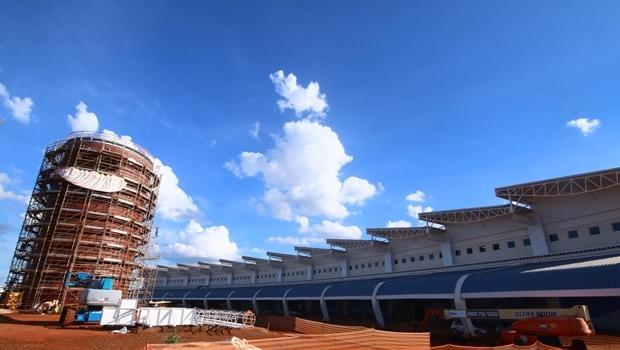 Obras do novo aeroporto de Goiânia, no final do ano passado | Foto: Fernando Leite / Jornal Opção