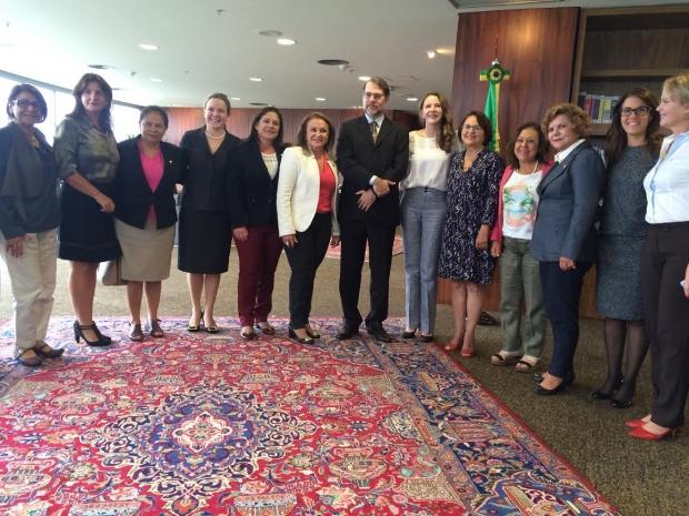Bancada feminina no Congresso se reuniu com ministro do STF | Divulgação