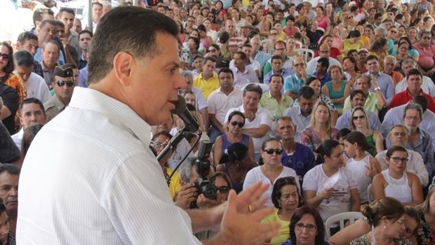 Governador Marconi Perillo durante inauguração de nova subestação da Celg em Itaberaí | Foto: Marco Monteiro / Gabinete Imprensa