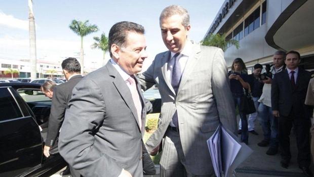 Marconi Perillo e José Eliton se reúnem para discutir edital de concurso público para área de Segurança Pública | Foto: divulgação/Twitter