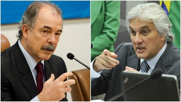 Ministro Aloízio Mercadante e o senador Delcídio Amaral | Fotos: Marcelo Camargo / Geraldo Magela