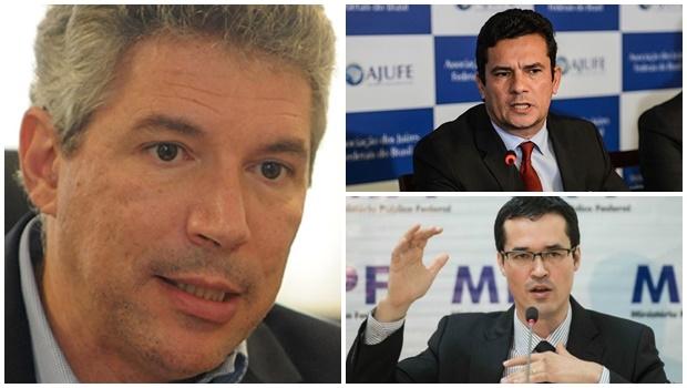 Sérgio Moro, Deltan Dall'Agnol e Helio Telho: o juiz e os dois procuradores da República, homens  e profissionais íntegros e competentes, mostram que o Brasil tem jeito e está no caminho certo