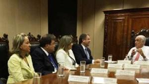 Deputados Josi Nunes, César Halum e Dulce Miranda e governador Marcelo Miranda com o ministro Antônio Carlos Rodrigues