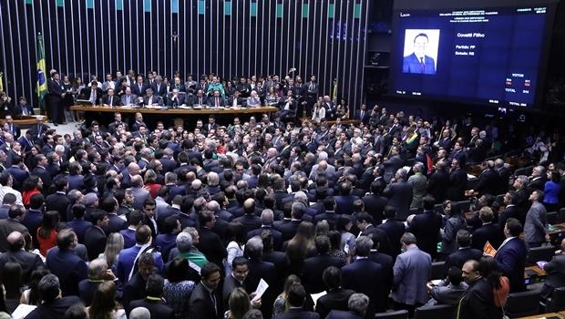 Plenário da Câmara dos Deputados fica lotado para aceitar a abertura do pedido de impeachment contra a presidente Dilma Rousseff (PT) | Foto: Reprodução/TV Câmara