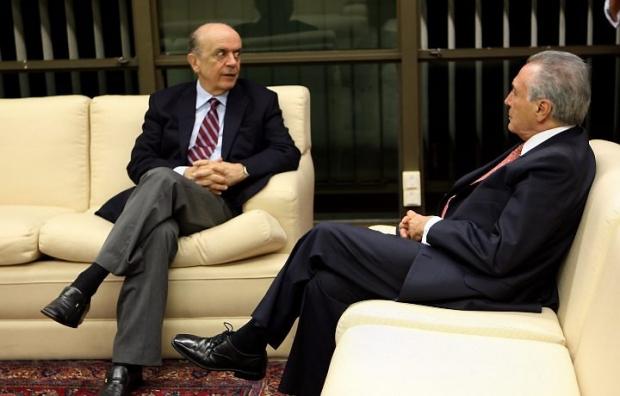 Michel Temer com José Serra d95219b8749e8280e54bbdfa16f59563