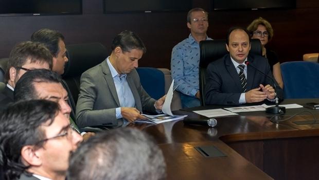 Secretário estadual de Desenvolvimento (SED), Thiago Peixoto, apresentou as metas da sua pasta no Programa Goiás Mais Competitivo na manhã desta sexta-feira (1º/4) | Foto: Leopoldo Fernandes/SED