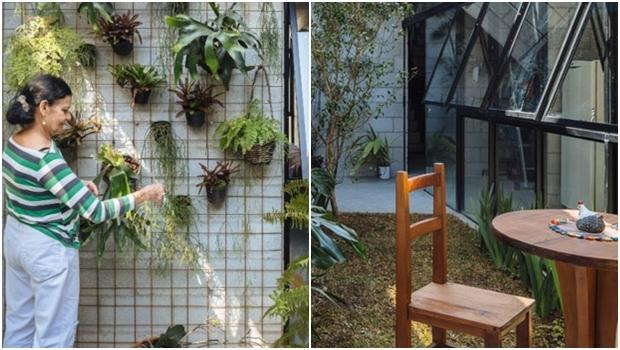 O cinza dos blocos de concreto contrasta com o verde das plantas: arquitetura contemporânea | Fotos: Pedro Kok/Terra e Tuma Arquitetos