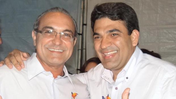 Jânio Darrot e o vice, Gleysson Cabrinny, na eleição de 2012 | Foto: reprodução