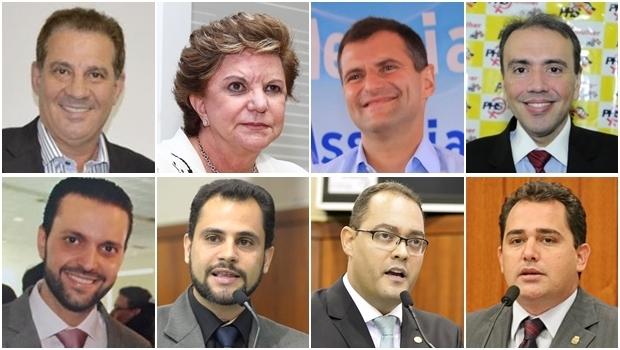 Vanderlan Cardoso, Lúcia Vânia, Marcos Abrão, Eduardo Machado, Alexandre Baldy, Simeyzon Silveira, Virmondes Cruvinel e Deivison Costa