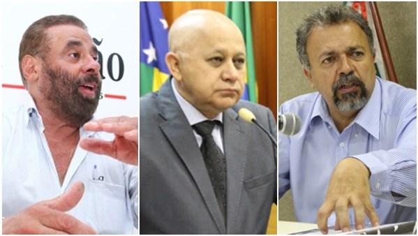 Vereadores Paulo Magalhães (SD), Djalma Araújo (Rede) e Elias Vaz (PSB)   Fotos: Jornal Opção e Ascom da Câmara