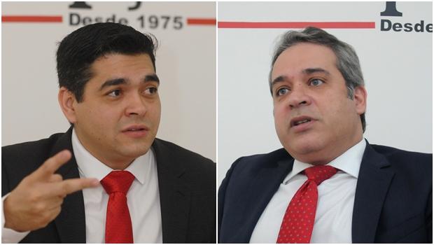Vereador Tayrone di Martino e secretário Henrique Tibúrcio, ambos do PSDB: troca na Segov Fotos: Marcello Dantas / Fernando Leite