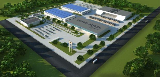 Projeto da Zotye para instalação da fábrica em Goianésia   Imagem: Divulgação