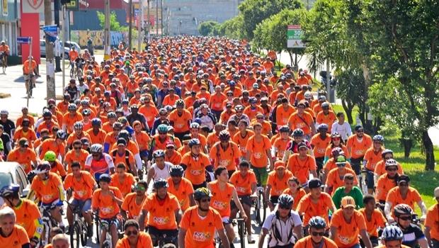 Previsão é de que cerca de 8 mil pessoas participem do passeio ciclístico no domingo (22/5) | Foto: Divulgação/Rede Record