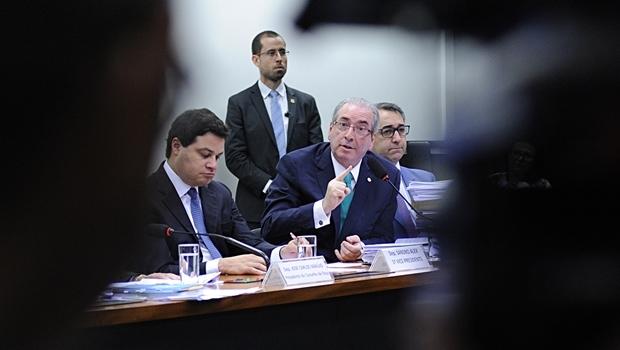Cunha durante sessão no conselho de ética | Foto: Lucio Bernardo Junior