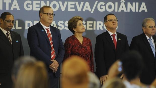 A presidente Dilma Rousseff (PT) destacou os avanços na aviação civil em seu governo | Foto: Renan Accioly/Jornal Opção