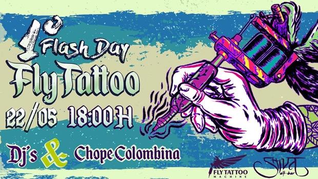 Tem Flash Day Fly Tattoo no Shiva alt-bar