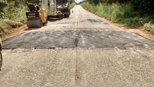 Agetop realizou manutenção do trecho da GO-142, no fim do perímetro urbano do distrito de Mata Azul, em Montividiu do Norte   Foto: Comunicação Setorial da Agetop