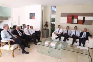 Marconi Perillo com os governadores do PMDB em Brasília em 3 de maio de 2016