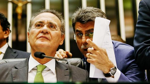 Renan Calheiros e Romero Jucá 15077100